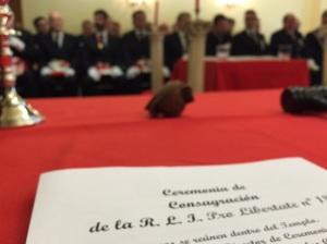 Ceremonia de Consagración de Pro Libertate 181